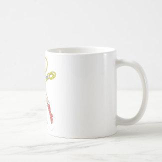 La Mujer Maravilla sostiene el lazo 4 Taza De Café