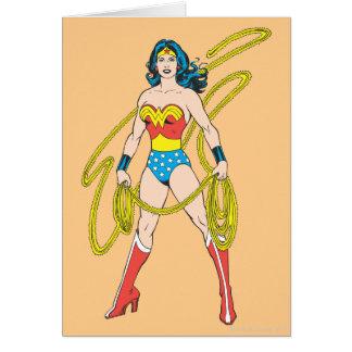 La Mujer Maravilla sostiene el lazo 5 Tarjetas