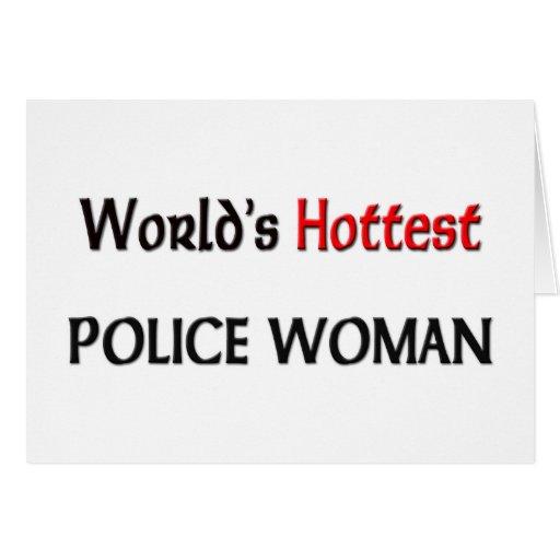 La mujer más caliente de la policía de los mundos tarjeton