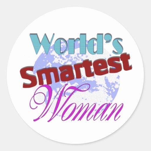 la mujer más elegante de los mundos pegatina redonda