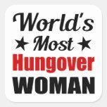 La mujer más hungover del mundo divertida