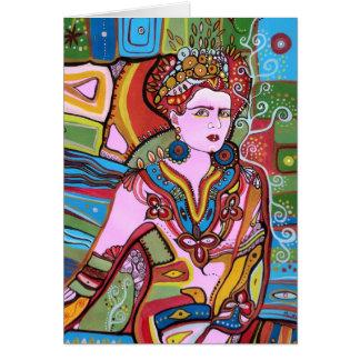 La mujer mexicana tarjeta de felicitación