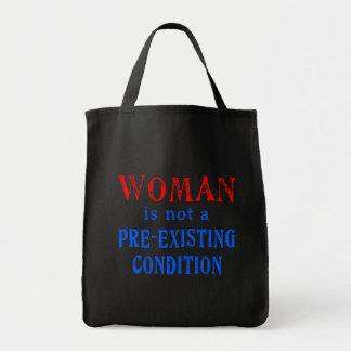 La mujer no es una condición pre existente bolsa