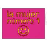 La Mujer Número 1 - esposa del número 1 en español Tarjeta Pequeña