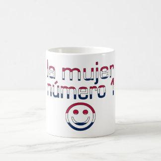 La Mujer Número 1 in American Flag Colors Classic White Coffee Mug