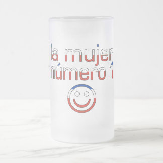 La Mujer Número 1 - Number 1 Wife in Chilean 16 Oz Frosted Glass Beer Mug