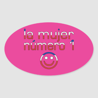 La Mujer Número 1 - Number 1 Wife in Chilean Oval Sticker