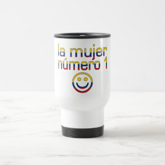 La Mujer Número 1 - Number 1 Wife in Colombian 15 Oz Stainless Steel Travel Mug
