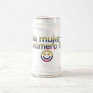 La Mujer Número 1 - Number 1 Wife in Colombian 18 Oz Beer Stein