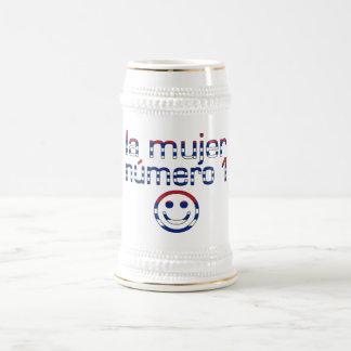La Mujer Número 1 - Number 1 Wife in Cuban 18 Oz Beer Stein
