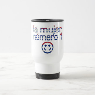 La Mujer Número 1 - Number 1 Wife in Cuban 15 Oz Stainless Steel Travel Mug