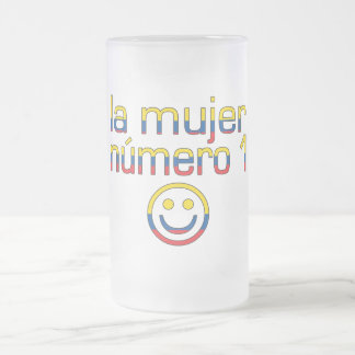 La Mujer Número 1 - Number 1 Wife in Ecuadorian 16 Oz Frosted Glass Beer Mug