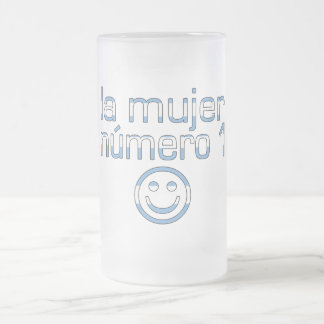 La Mujer Número 1 - Number 1 Wife in Guatemalan 16 Oz Frosted Glass Beer Mug