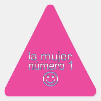 La Mujer Número 1 - Number 1 Wife in Guatemalan Triangle Sticker