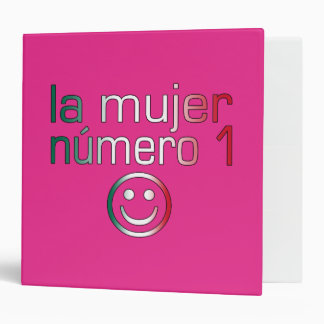La Mujer Número 1 - Number 1 Wife in Mexican 3 Ring Binder