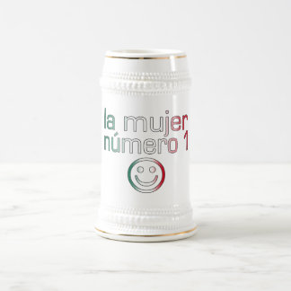La Mujer Número 1 - Number 1 Wife in Mexican 18 Oz Beer Stein
