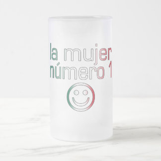 La Mujer Número 1 - Number 1 Wife in Mexican 16 Oz Frosted Glass Beer Mug