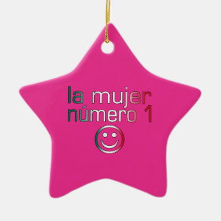La Mujer Número 1 - Number 1 Wife in Mexican Christmas Tree Ornaments