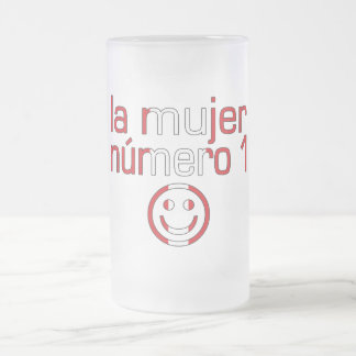 La Mujer Número 1 - Number 1 Wife in Peruvian 16 Oz Frosted Glass Beer Mug