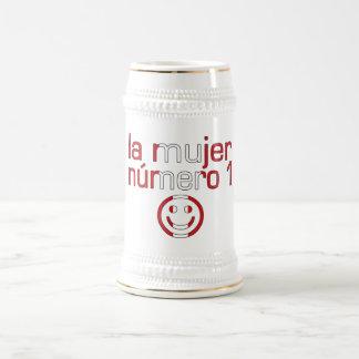 La Mujer Número 1 - Number 1 Wife in Peruvian 18 Oz Beer Stein