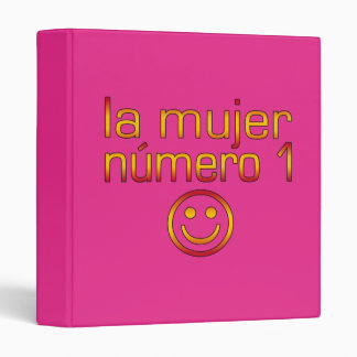 La Mujer Número 1 - Number 1 Wife in Spanish 3 Ring Binder