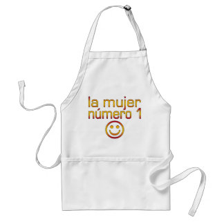 La Mujer Número 1 - Number 1 Wife in Spanish Adult Apron