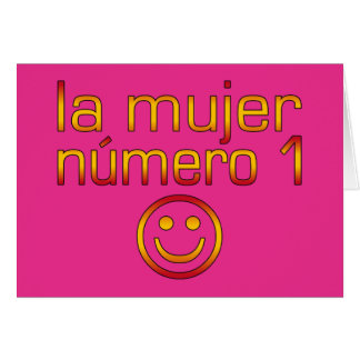 La Mujer Número 1 - Number 1 Wife in Spanish Greeting Cards