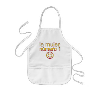 La Mujer Número 1 - Number 1 Wife in Spanish Kids' Apron