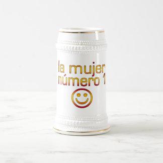 La Mujer Número 1 - Number 1 Wife in Spanish 18 Oz Beer Stein