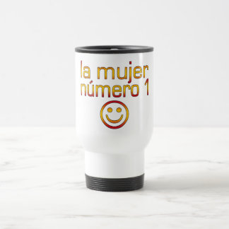 La Mujer Número 1 - Number 1 Wife in Spanish 15 Oz Stainless Steel Travel Mug