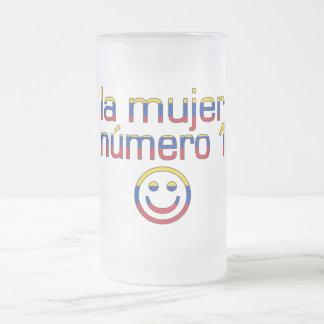 La Mujer Número 1 - Number 1 Wife in Venezuelan 16 Oz Frosted Glass Beer Mug
