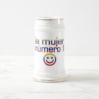 La Mujer Número 1 - Number 1 Wife in Venezuelan 18 Oz Beer Stein
