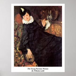 La mujer parisiense joven de Wilhelm Leibl Impresiones