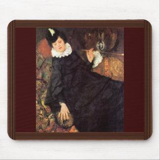 La mujer parisiense joven (la prostituta) tapetes de raton