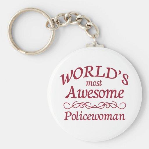 La mujer policía más impresionante del mundo llavero redondo tipo pin