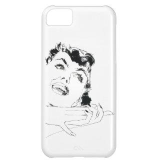 La mujer retra del vintage clava el pelo del funda para iPhone 5C