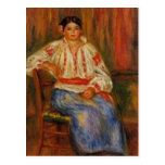 La mujer rumana joven de Renoir Tarjetas Postales