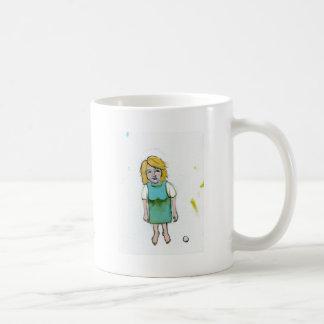 La mujer subrayada lo dejó ir arte único del foras taza básica blanca