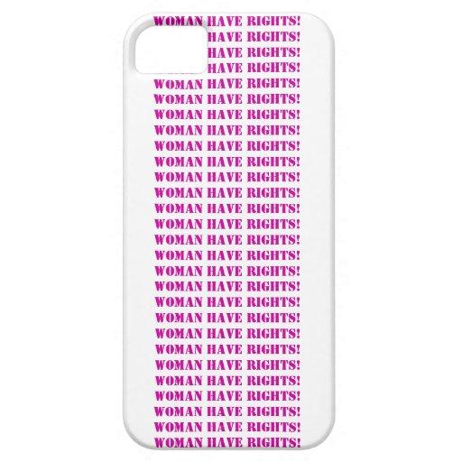 La mujer tiene Funda-Personalizable del iPhone 5 iPhone 5 Protectores