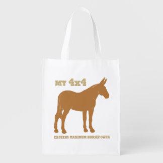 la mula 4x4 excede caballos de fuerza bolsas reutilizables
