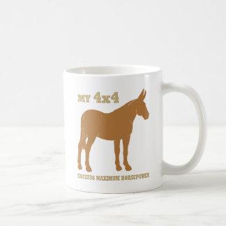 la mula 4x4 excede caballos de fuerza taza de café