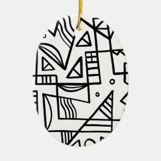 La multa elogia entero valorado adorno navideño ovalado de cerámica