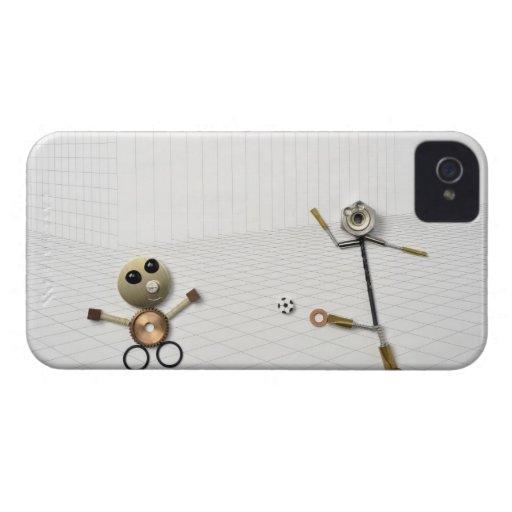 La muñeca de la materia hecha a mano que diversos  iPhone 4 Case-Mate carcasa