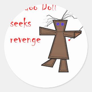 La muñeca del vudú busca venganza pegatinas