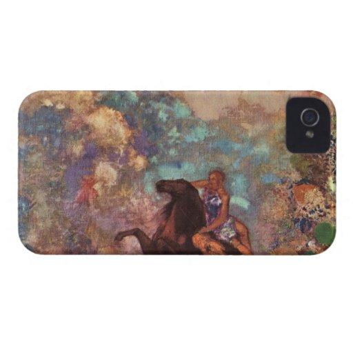 La MUSA en Pegasu de Bertrand-Jean Redon iPhone 4 Case-Mate Cárcasas