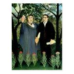 La musa que inspira al poeta, 1908-09 tarjetas postales