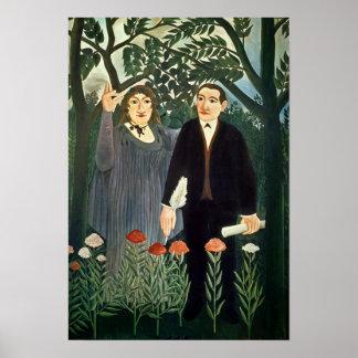 La musa que inspira al poeta, 1909 póster