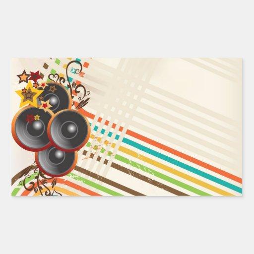 La música 2 rectangular altavoz