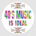la música 40s es ideal etiquetas redondas