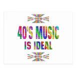 la música 40s es ideal postal